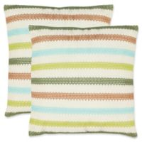 Safavieh Bleeker 18-Inch Square Throw Pillows in Blue/Green (Set of 2)