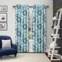 Pairs to Go™ Bradway 84-Inch Rod Pocket Window Curtain Panel Pair in Blue