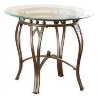 Steve Silver Co. Madrid Glass Top End Table in Pewter