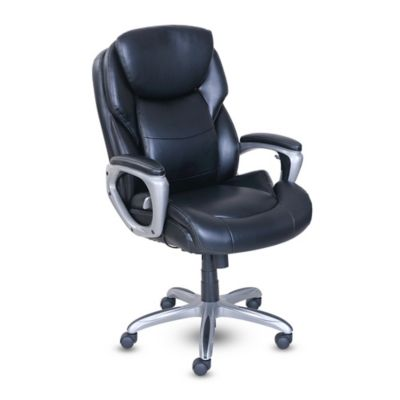 serta my fit office chair with active lumbar support in black