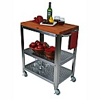 John Boos Culinarte Cherry Wood Top Kitchen Cart