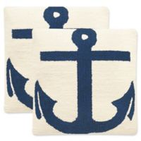 Safavieh Ahoy 20-Inch Square Throw Pillows in Marine Blue (Set of 2)