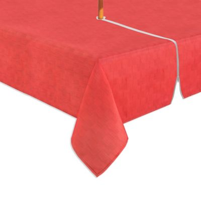 Mason 60 Inch X 84 Inch Oblong Umbrella Tablecloth In Coral