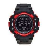 Skechers Keats Men Digital Watch in Black/Red