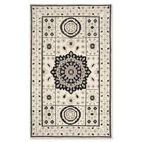 Safavieh Kenya Bordered Medallion 5-Foot x 8-Foot Area Rug in Ivory/Grey
