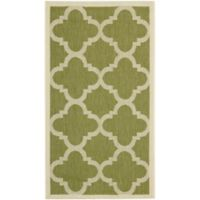 Safavieh Courtyard Quatrefoil 8-Foot x 11-Foot Indoor/Outdoor Area Rug in Green