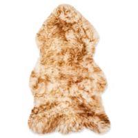 Safavieh Sheepskin 2-Foot x 3-Foot Accent Rug in Off White/Brown