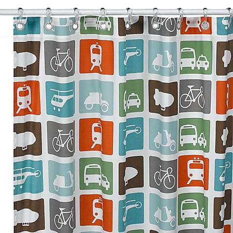 DwellStudioTM Transportation 72 X Fabric Shower Curtain