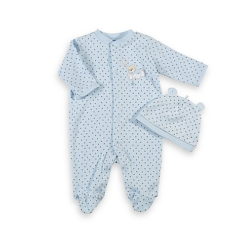 Little Me® Size 3M Sleepy Bear Footie with Cap