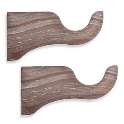 cambria premier weathered wood single bracket in smoke