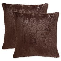 Safavieh Kiki 20-Inch Square Throw Pillows in Dark Truffle (Set of 2)