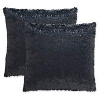 Safavieh Kiki 24-Inch Square Throw Pillows in Black Opium (Set of 2)