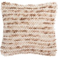 Safavieh Pin Stripe Loop Square Throw Pillow in Eggshell