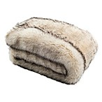 Safavieh Coco Striped Throw Blanket in Taupe