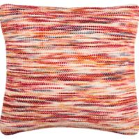 Safavieh Tight Weave Rainbow Square Throw Pillow in Red