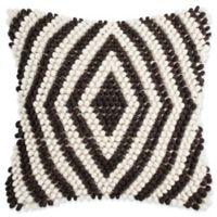 Safavieh Diamond Loop 20-Inch Square Throw Pillow in Milk Chocolate
