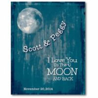 """Courtside Market """"I Love You to the Moon and Back"""" Canvas Wall Art"""