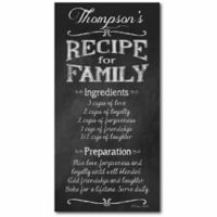 "Courtside Market ""Recipe for Family"" Canvas Wall Art"