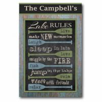 Courtside Market Lake Rules Canvas Wall Art