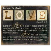 """Courtside Market """"Love Is Patient"""" Canvas Wall Art"""