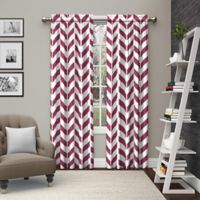 Pairs to Go™ Dewitt 63-Inch Rod Pocket Window Curtain Panel Pair in Fuchsia