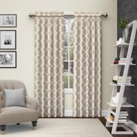 Pairs to Go™ Vickery 84-Inch Rod Pocket Window Curtain Panel Pair in Taupe