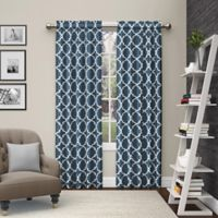 Pairs to Go™ Vickery 63-Inch Rod Pocket Window Curtain Panel Pair in Indigo