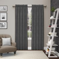 Pairs to Go™ Teller 84-Inch Rod Pocket Window Curtain Panel Pair in Smoke