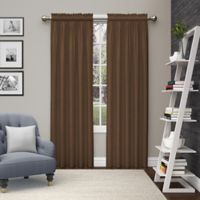 Pairs to Go™ Teller 63-Inch Rod Pocket Window Curtain Panel Pair in Chocolate