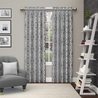Pairs to Go™ Pinkney 84-Inch Rod Pocket Window Curtain Panel Pair in Charcoal