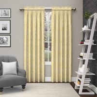 Pairs to Go™ Pinkney 84-Inch Rod Pocket Window Curtain Panel Pair in Yellow