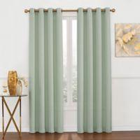 Luna Metallic 95-Inch Grommet Top Window Curtain Panel in Green