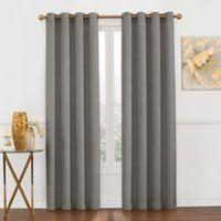 Luna Metallic 95-Inch Grommet Top Window Curtain Panel in Platinum
