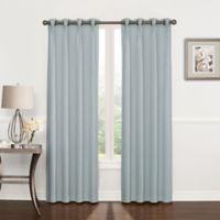 Riverstone Pinch Pleat 95-Inch Grommet Top Window Curtain Panel in Blue