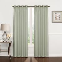 Riverstone Pinch Pleat 84-Inch Grommet Top Window Curtain Panel in Green