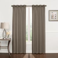 Riverstone Pinch Pleat 63-Inch Grommet Top Window Curtain Panel in Stone