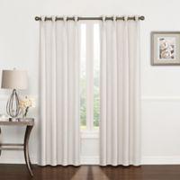 Riverstone Pinch Pleat 63-Inch Grommet Top Window Curtain Panel in White