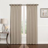 Riverstone Pinch Pleat 95-Inch Grommet Top Window Curtain Panel in Linen