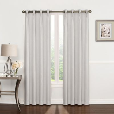 riverstone pinch pleat 108inch grommet top window curtain panel in silver grey