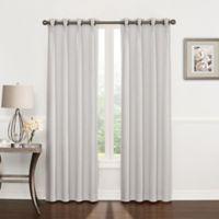 Riverstone Pinch Pleat 108-Inch Grommet Top Window Curtain Panel in Silver Grey