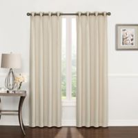 Riverstone Pinch Pleat 63-Inch Grommet Top Window Curtain Panel in Ivory