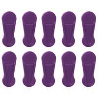 Joy Mangano Huggable Hangers® 10-Pack Pant and Skirt Clips in Purple
