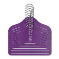 Joy Mangano Huggable Hangers® 10-Piece Kids Suit Hangers in Purple