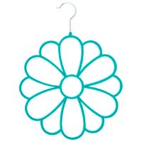 Joy Mangano Huggable Hangers® Fashion Flower Accessory Hanger in Teal