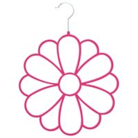 Joy Mangano Huggable Hangers® Fashion Flower Accessory Hanger in Fuchsia