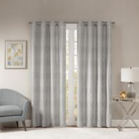 Templeton 95-Inch Grommet Top Window Curtain Panel in Silver