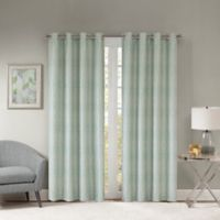 Templeton 95-Inch Grommet Top Window Curtain Panel in Aqua