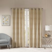 Templeton 63-Inch Grommet Top Window Curtain Panel in Gold