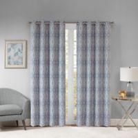 Templeton 63-Inch Grommet Top Window Curtain Panel in Blue