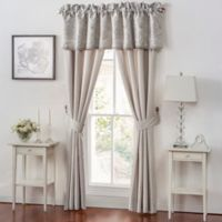 Waterford® Sophia Tailored Window Valance in Platinum